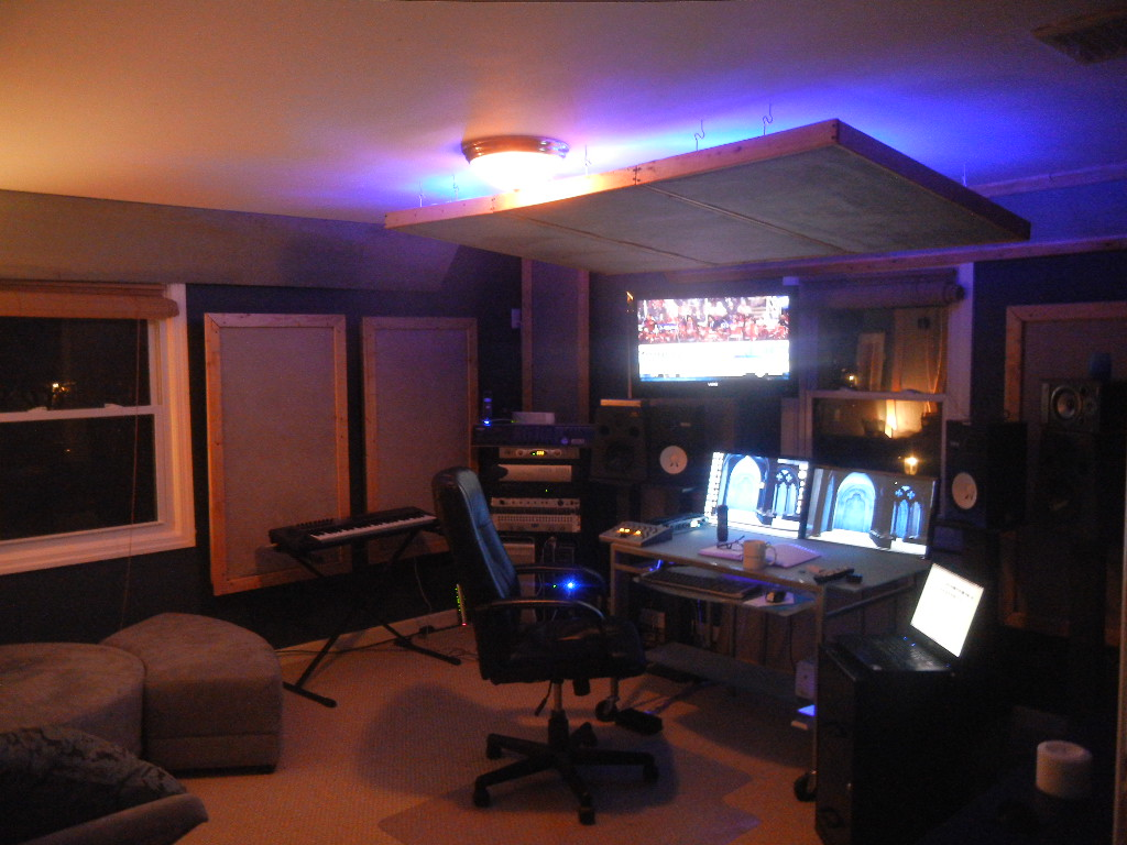 how building cost effective acoustic treatment for the music studio