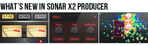 What's new in SONAR X2 Producer