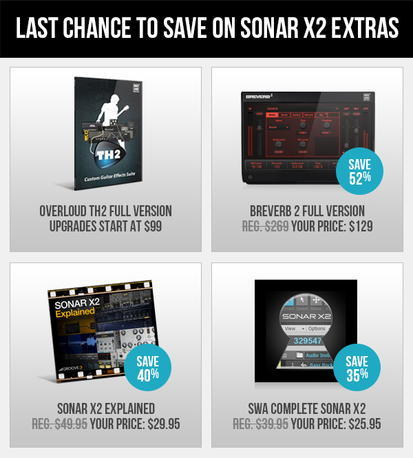 See all SONAR X2 Extras