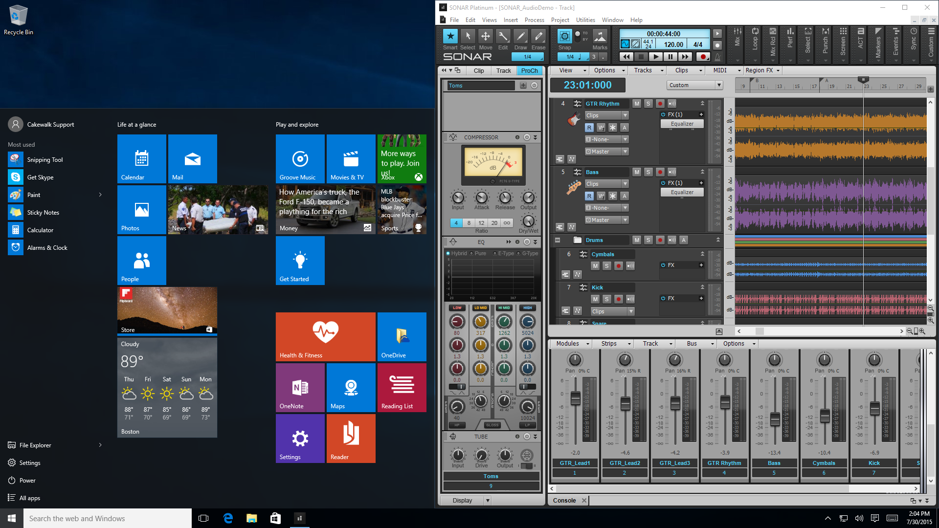 windows 10 bass