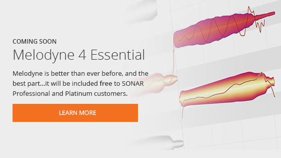 Melodyne 4 Essential Coming Soon To SONAR - Click Here to Learn More