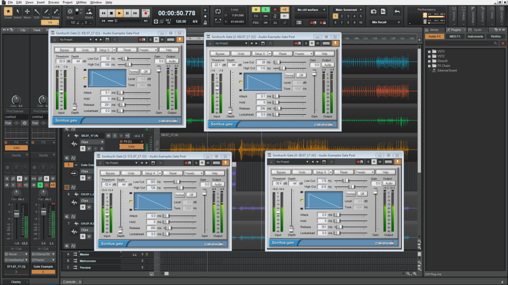 Sonitus Gates On Kick and Snare in SONAR