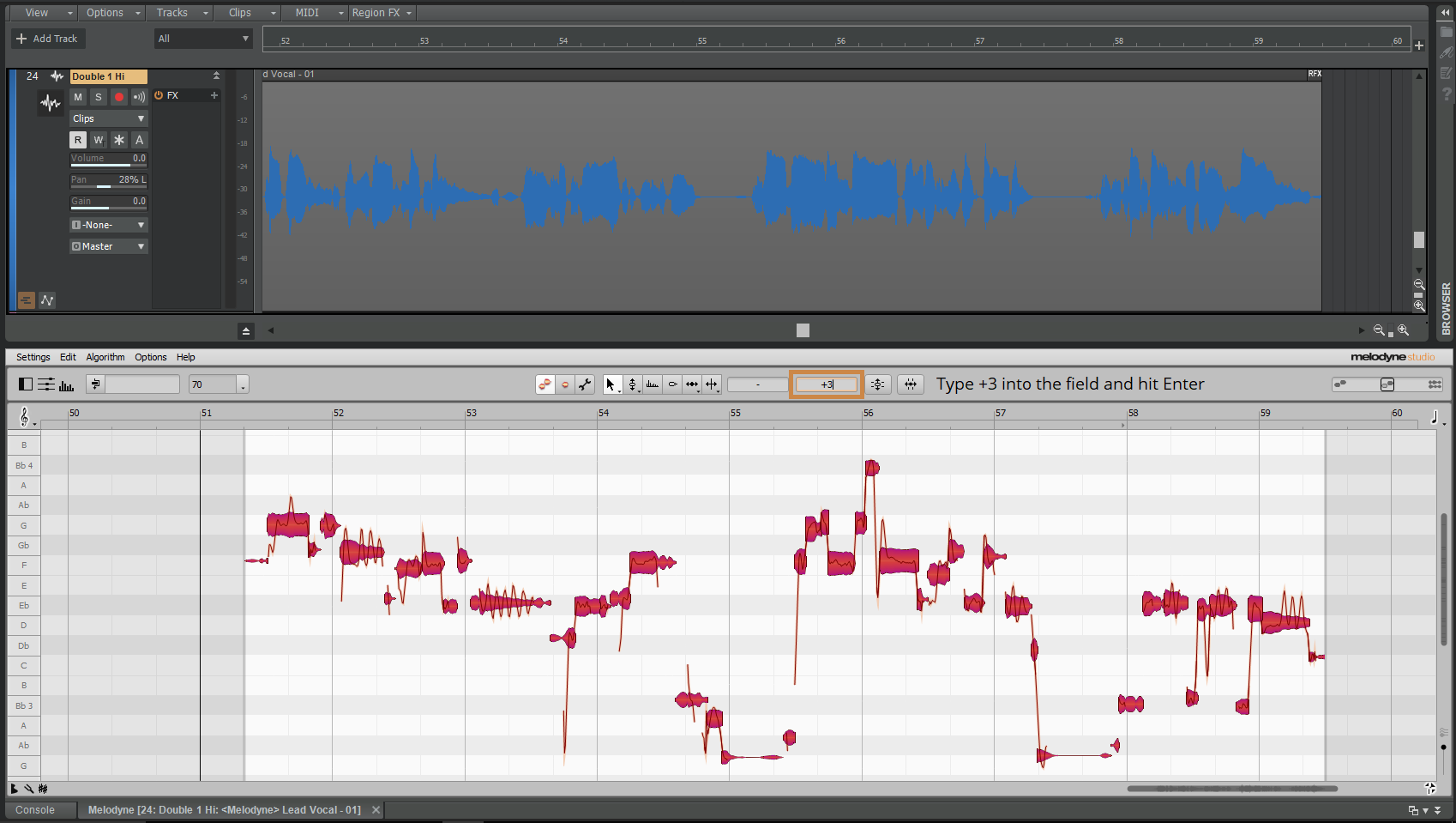 Create Your Melodyne Clip
